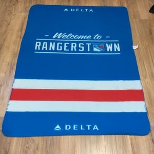 NHL New York Rangers Delta fleece blanket promo
